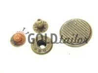 Button Alfa Corf 20 mm antique China, 50 pcs