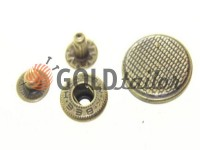 Кнопка Alfa Corf 20 мм антик Китай, 50 шт