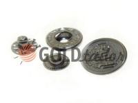 Кнопка Alfa Blazon 17 мм темний нікель Китай, 50 шт