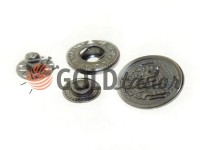 Button Alfa Blazon 17 mm black nickel China, 50 pcs