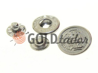 Buy button Alfa Blazon 17 mm Dark Nickel China Wholesale