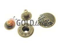 Button Alfa Wear Jeans 15 mm antique China, 50 pcs
