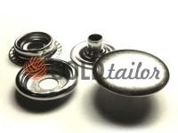 Button NEWstar №61 smooth 15 mm nickel Turkey, 72 pcs