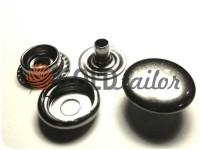 Button NEWstar №61 smooth 12,5 mm black nickel Turkey, 72 pcs