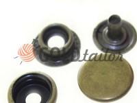 Button NEWstar №61 smooth 15 mm antique Turkey, 72 pcs