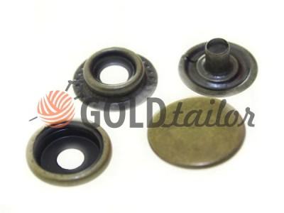 Кнопка NEWstar №61 гладкая 15 mm антик Турция купить оптом