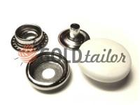 Кнопка NEWSTAR №61 з білою пластиковою шляпкою 15 мм, 17 мм, 20 мм Туреччина, 72 шт