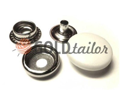 Button NEWstar №61 with a white plastic cap 15 mm, 17 mm, 20 mm Turkey