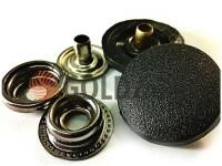 Кнопка NEWSTAR №61 з чорною пластиковою шляпкою 15 мм, 17 мм, 20 мм Туреччина, 72 шт