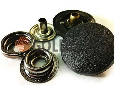 Button NEWstar №61 with black plastic cap 15 mm, 17 mm, 20 mm Turkey