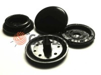 Button NEWstar №61 plastic 12,5 mm, 15 mm black Turkey, 100 pcs