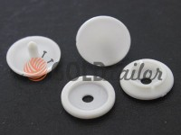 Button NEWstar №61 plastic 12,5 mm, 15 mm white Turkey, 100 pcs