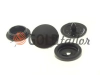 Button NEWstar №61 plastic 9,5 mm black Turkey, 100 pcs