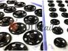 Button HuaTai Sew black metal 8,5 mm buy in bulk