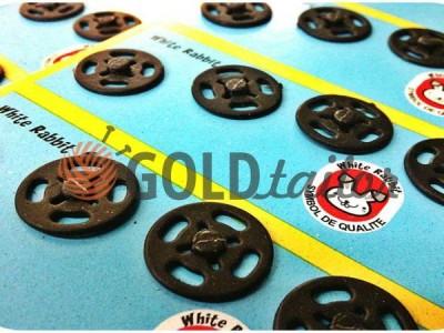 Купити Кнопка White Rabbit №12 пришивними пластикова чорна 10 mm