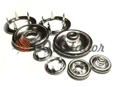 Button knitting Gripper 9,5 mm Nickel buy with a discount in Ukraine