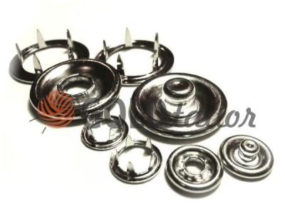 Кнопка трикотажная Gripper 10,5 mm никель кольцо купить по скидке в Украине