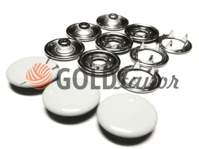 Buy button knitted Gripper closed top 9,5 mm white