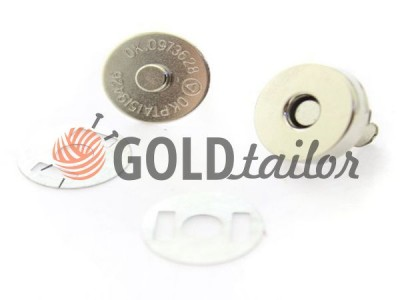 Button magnet for bags 15 mm 17 mm Nickel buy discounted wholesale
