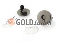 Button magnet for bags 15 mm 17 mm black nickel
