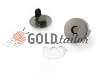 Кнопка-магнит сумочная 15 mm 17 mm темный никель купить на сайте
