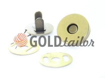 Кнопка-магніт сумочно 15 mm 17 mm антик купити на goldtaior.com.ua