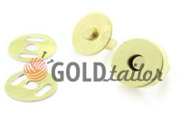 Button magnet for bags 15 mm 17 mm gold