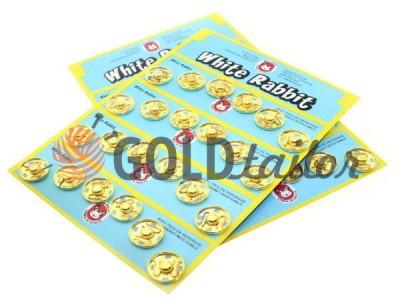 Кнопка White Rabbit пришивними металева золото купити опт