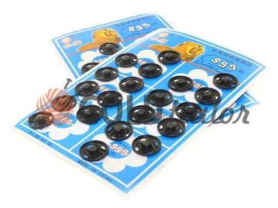 Button 999 Sew metal black buy in Ukraine wholesale