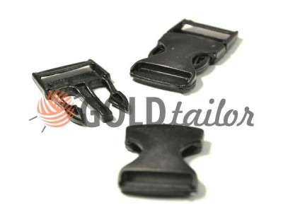Buy Plastic carabiner two-touch two-class 20 mm 25 mm the black wholesale and retail for the best prices
