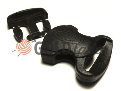 Buy Plastic carabiner two-button two-class decorative 20 mm the black wholesale and retail for the best prices