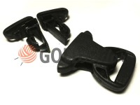 Plastic carabiner two-button three-pillar 25 mm the black