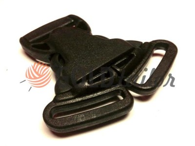 Buy Plastic carabiner two-button three-pillar 30 mm the black wholesale and retail for the best prices