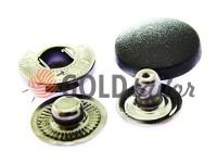 Кнопка NEWSTAR ALFA з чорною пластиковою шляпкою 15 мм, 17 мм, 20 мм Туреччина, 72 шт
