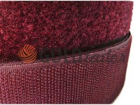 Velcro textile, color bordo