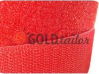 Velcro textile, color red