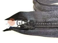 Zipper spiral type 5 on one slider 40 cm - 180 cm, black