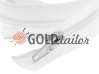 Молния витая тип 5 на один слайдер 40 см - 120 см, цвет белый