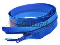 Блискавка спіральна тип 5 на один бігунок 40 см - 85 см, колір блакитний 058