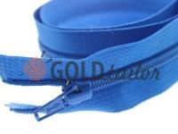 Zipper spiral type 5 on one slider 40 cm - 85 cm, blue 058