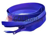 Блискавка спіральна тип 5 на один бігунок 40 см - 85 см, колір блакитний 065