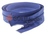 Zipper spiral type 5 on one slider 40 cm - 85 cm, blue 182