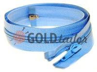 Zipper spiral type 5 on one slider 40 cm - 85 cm, blue 059