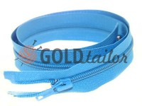 Блискавка спіральна тип 5 на один бігунок 40 см - 85 см, колір блакитний 059