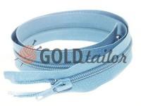 Блискавка спіральна тип 5 на один бігунок 40 см - 85 см, колір блакитний 055
