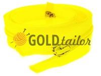 Молния витая тип 5 на один слайдер 40 см - 85 см, цвет желтый 029