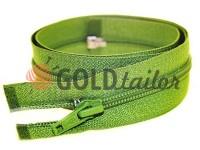 Zipper spiral type 5 on one slider 40 cm - 85 cm, green 079