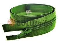 Zipper spiral type 5 on one slider 40 cm - 85 cm, green 080