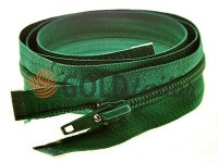 Zipper spiral type 5 on one slider 40 cm - 85 cm, green 082