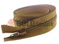 Zipper spiral type 5 on one slider 40 cm - 85 cm, brown 230